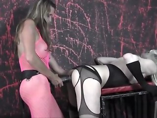 blonde sexy blonde crossdresser spanking fucking