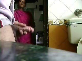 caught maid caught jerking cock