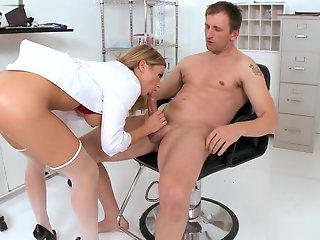 doctor blonde doctor blowjob dick cumshot